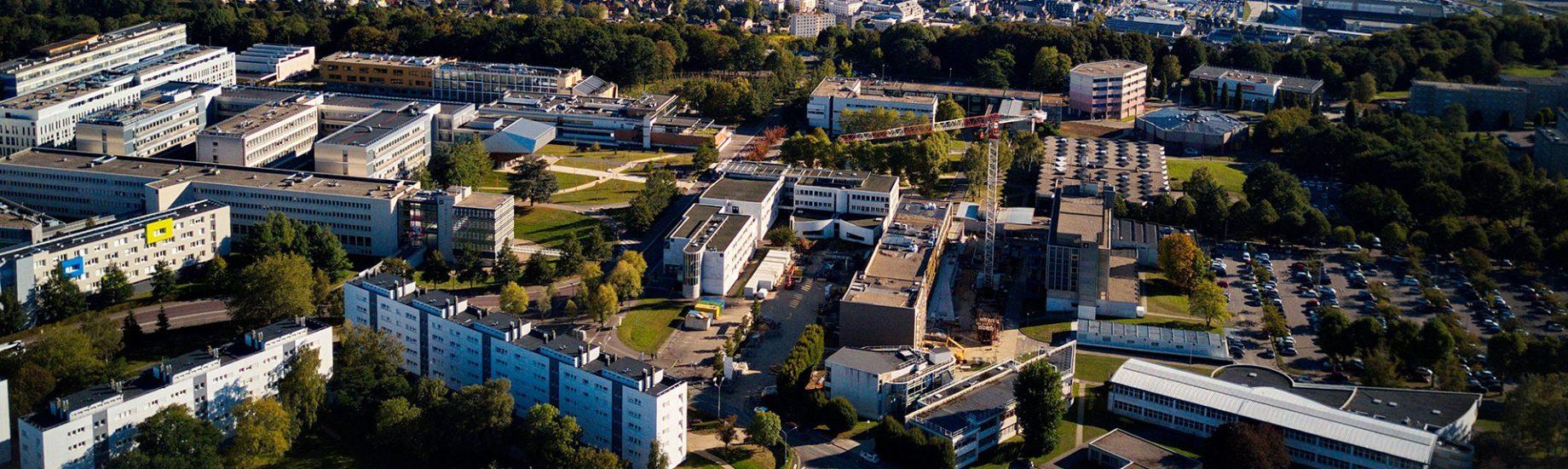 Campus Mont-Saint-Aignan - Vue aérienne