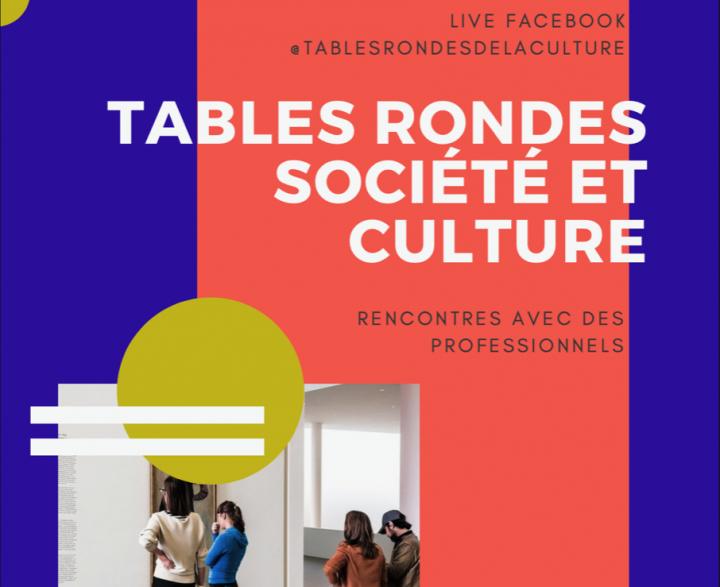 Affiche tables rondes culture et société 2021