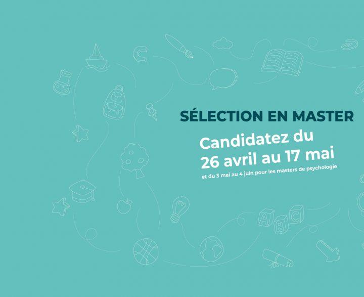 Sélection en Master 2021